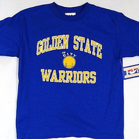 Golden State Warriors Majestic Short Sleeve T Shirt Youth Size 7