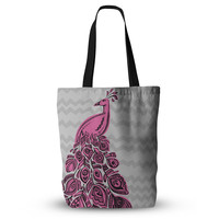 """Brienne Jepkema """"Peacock Pink"""" Everything Tote Bag"""