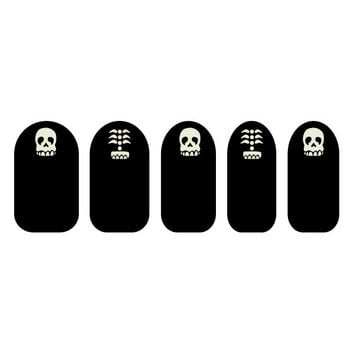 Black & White Skull Nail Art