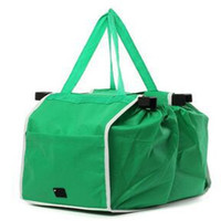 Free Shipping Grocery Grab Shopping Foldable Tote Eco-friendly Reusable Storage Organizer Trolley Supermarket Large Capacity Bag