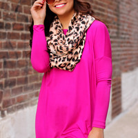Time for Me Top - Magenta