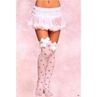 Beileisi Lingerie 2095 Stockings with Red Bows and Hearts