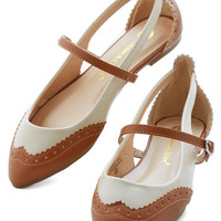 ModCloth Menswear Inspired Tappy and You Know It Flat in Brown