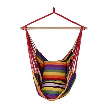 TOPING FUN Hanging Rope Hammock Chair Swing Seat, 3 colors