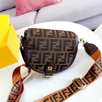 Fendi Vintage Classic Double F Logo Chest Bag Waist Bag Saddle Bag