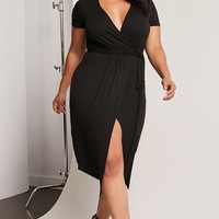Plus Size Asymmetrical Dress