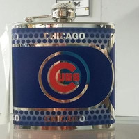 MLB Chicago Cubs 6oz Stainless Steel Flask with 360 Wrap