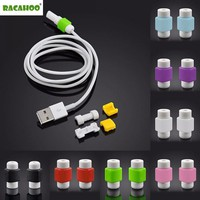 RACAHOO 5Pcs Headphone USB Data Line Protection Case Coil Protective Cover For Charging Cable Phone Winder Earphone Accessories