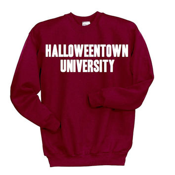 Halloweentown University Sweatshirt, Disney Halloween Shirt, Funny Halloween Clothing, Tumblr Sweatshirt, Witches Skeletons Brooms Costume