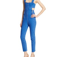 Kendall and KylieBack Cutout Denim Jumpsuit