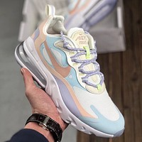 Free shipping: NIKE AIR MAX 270 REACT sports casual mesh cushioning running shoes