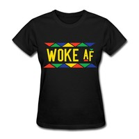 Woke af - Tribal Design (Yellow Letters) T-Shirt | STAY WOKE T-SHIRT CLOTHING AND ACCESSORIES