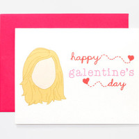 Leslie Knope Happy Galentine's Day -- Galentine's Day Card