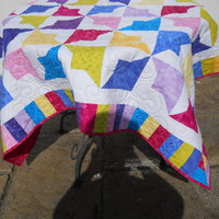 Gift for her, Patchwork quilt, Single Bed Patchwork Quilt , /Cosy Couch Throw/Child's Snuggly Blanket/Comfort Blanket,