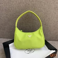 HCXX 19Aug 946 Prada Mini Sportsexy Canvas Fashion Casual Hobo 22-15-6