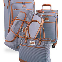 Jessica Simpson Breton Luggage Collection - Navy - Belk.com