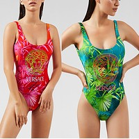 Versace 2020 New bikini Printed one piece swimsuit