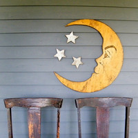 Moon Sign Nursery Decor Man in the Moon Large Scale Halloween Photo Prop