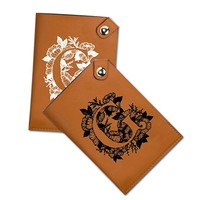 Simple Leather Passport Holder With Name Letter - Customized Travel Passport Covers - Passport Wallet_Emerishop