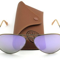 Cheap Ray-Ban RB3025 167/1R Aviator Bronze Frame / Flash Lilac Polarized Lens 58mm outlet