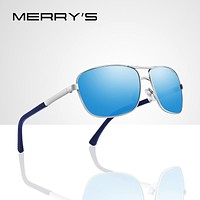 MERRYS DESIGN Men Classic Rectangle Sunglasses HD Polarized Sun glasses For Driving TR90 Legs UV400 Protection S8166