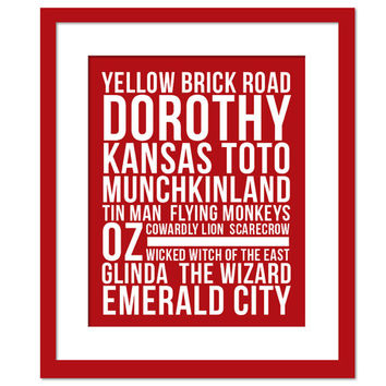 The Wizard of Oz Place Names Subway Art - Art Print - Typography Poster - Movie Poster - 8 x 10 Wall Decor