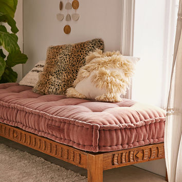 Rohini Velvet Daybed Cushion   Urban Outfitters