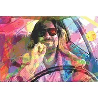 Big Lebowski - The Dude By Glover 24x36 Standard Wall Art Poster