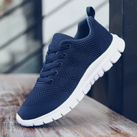 Weweya New Air Mesh Running Shoes For Men 2018 Outdoor Sneakers Black Blue Sport Athletic Shoes Summer Breathable Trainers Cool