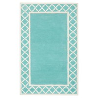 Diamond Border Rug, Pool