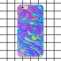 Molten rainbow iPhone 5 / 5c / 6 / 6s Plus case - Holographic - Grunge - Hipster - Cyber ghetto - Cute - Tumblr - Pink - Blue - phone case