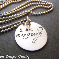 i am enough necklace positive affirmation jewelry