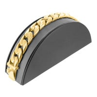 Miami Cuban Bracelet 14k Solid Yellow Gold Finish Stainless Steel