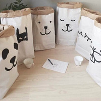 Cute Baby Toys Storage Canvas Bags Batman Bear Pattern Laundry Bag Pouch Baby Kids Toys Storage Bag Cute Wall Pocket 84767