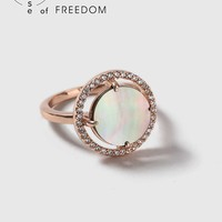 House of Freedom Abalone Ring | Topshop