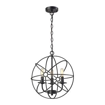 Yardley 3-Light Chandelier in Oil Rubbed Bronze with Wire Cage