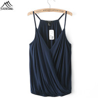 2016 NEW sexy tank tops women Fashion Polyester Casual Shirt fitted crop tops Strap Off Shoulder Sleeveless Sexy clothing Women