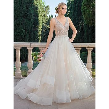 Casablanca 2315 Tori Beaded Bodice and Layered Ballgown Wedding Dress