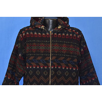 90s Woolrich Native American Print Hooded Jacket Small
