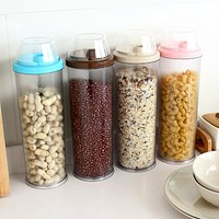 kitchen containers utensils leakproof plastic lid measuring oiler vinegar sauce pot oil bottle spices storage box canisters63694