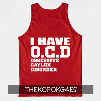 I Have OCD JC Caylen red tanktop for unisex adult