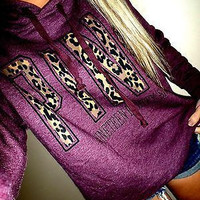 """PINK"" Victoria's Secret Letter Print Hoodie Sweatshirt Top Sweater"