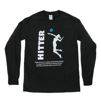 MVP Hitter Volleyball Long Sleeve Tee Shirt - BOGO FREE SPECIAL - Lucky Dog Volleyball