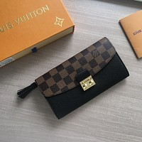 LV Louis Vuitton DAMIER CANVAS Croisette WALLET