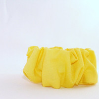 Top Knot 80s Hair Scrunchies Solid Yellow Blue 80s Hair Accessory Woman Teen