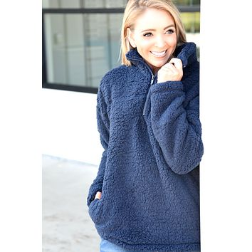 Simple Things Pullover - Navy