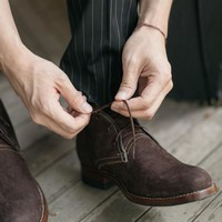 Men's Leather Chukka Boots