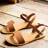 Coastline One Band Sandal, Tan