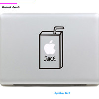 Fruit Juice Box for apple Creative Eating Sticker Case for Macbook Air 11 13 Pro 13 15 Retina Laptop Computer Vinyl spoof Decal