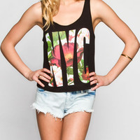 Full Tilt Nyc Womens Bar Back Tank Black  In Sizes